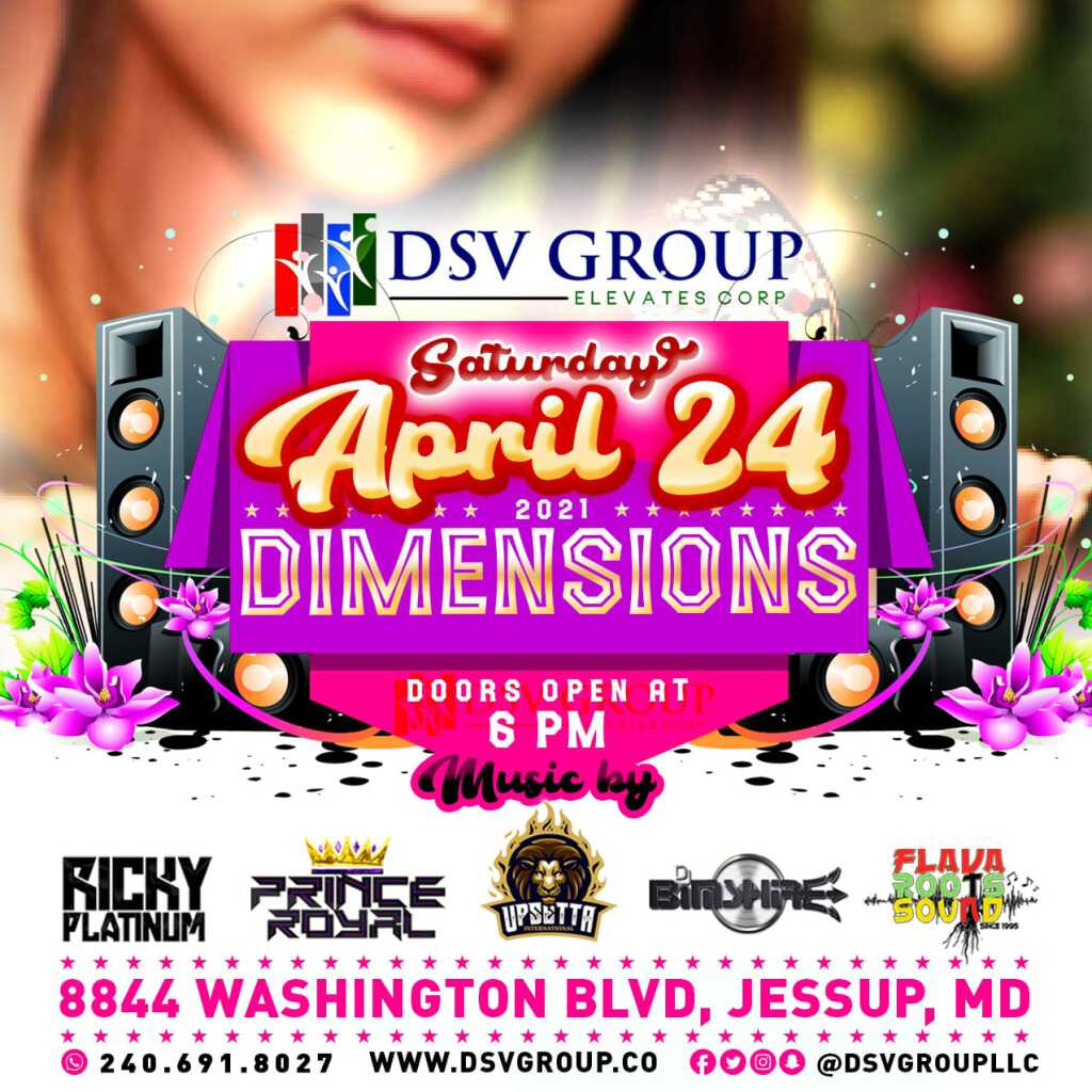 Dimensions flyer or graphic.