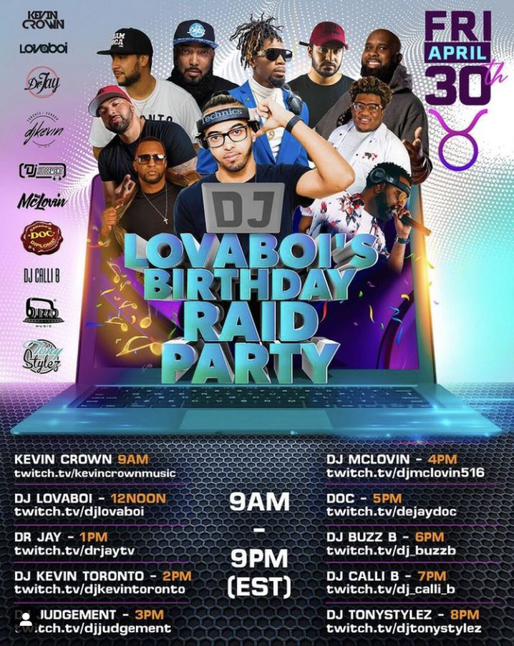 Dj Lovaboi's Birthday Raid Party flyer or graphic.