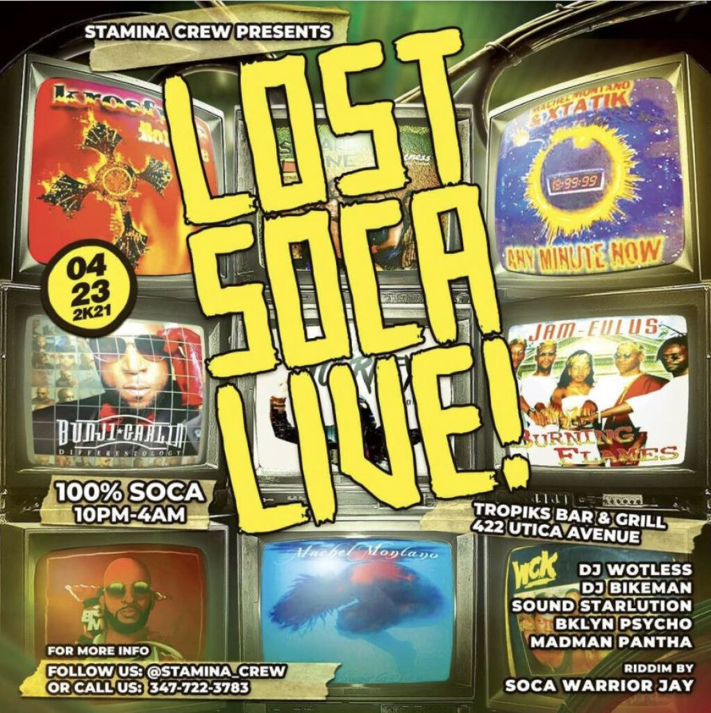 Lost Soca Live flyer or graphic.