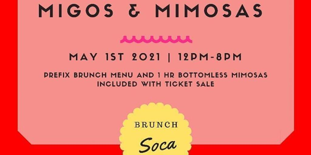 Migos and Mimosas flyer or graphic.