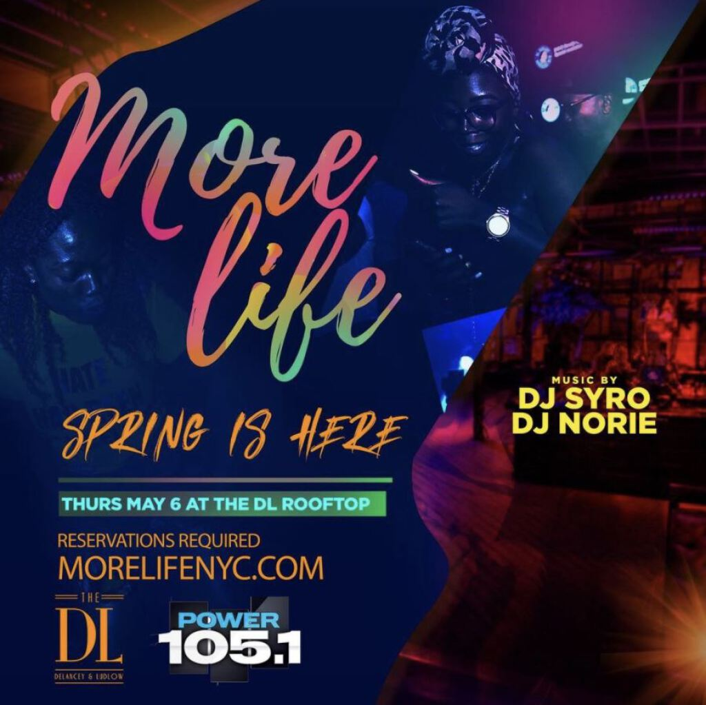 More Life : Spring Is Here flyer or graphic.