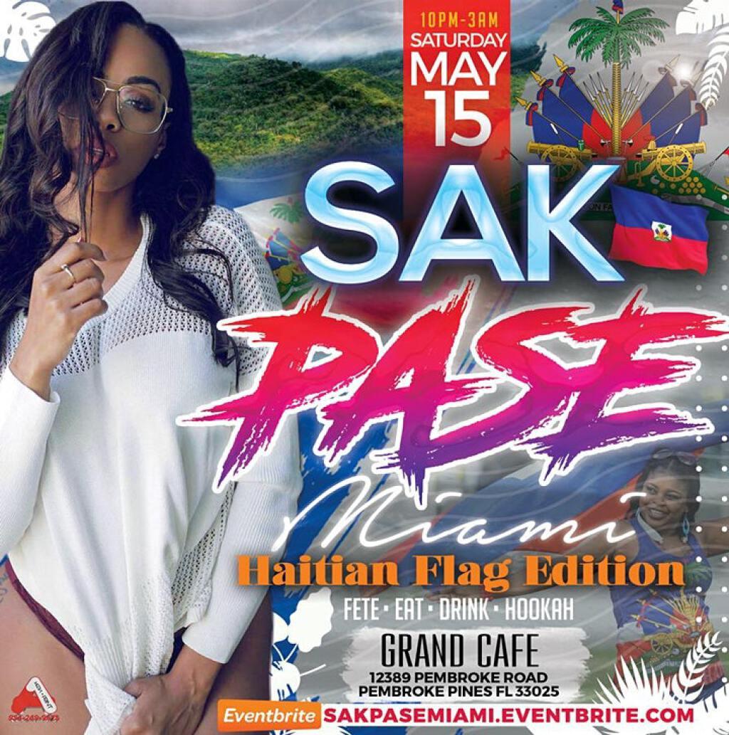 Sak Pase Miami (Haitian Flag Edition) flyer or graphic.