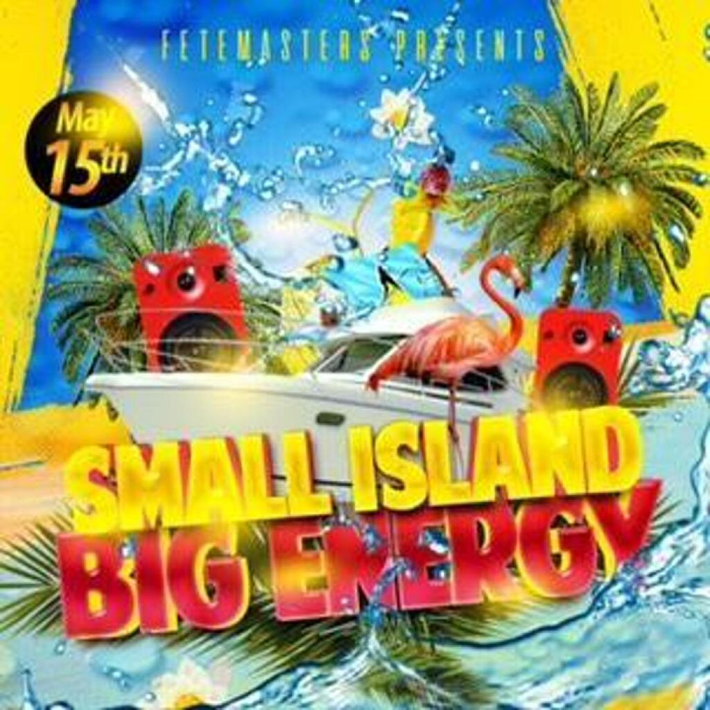 Small Island, Big Energy flyer or graphic.