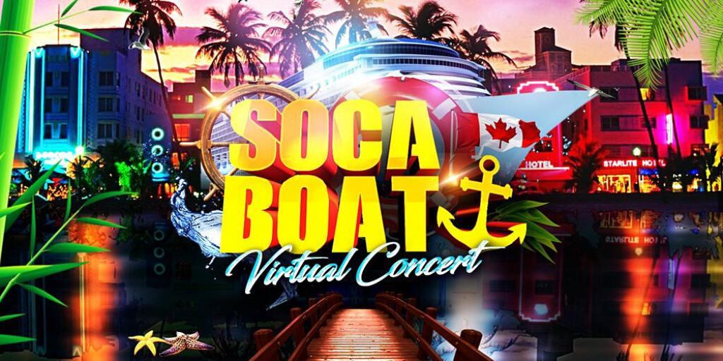 Soca Boat Virtual Concert flyer or graphic.
