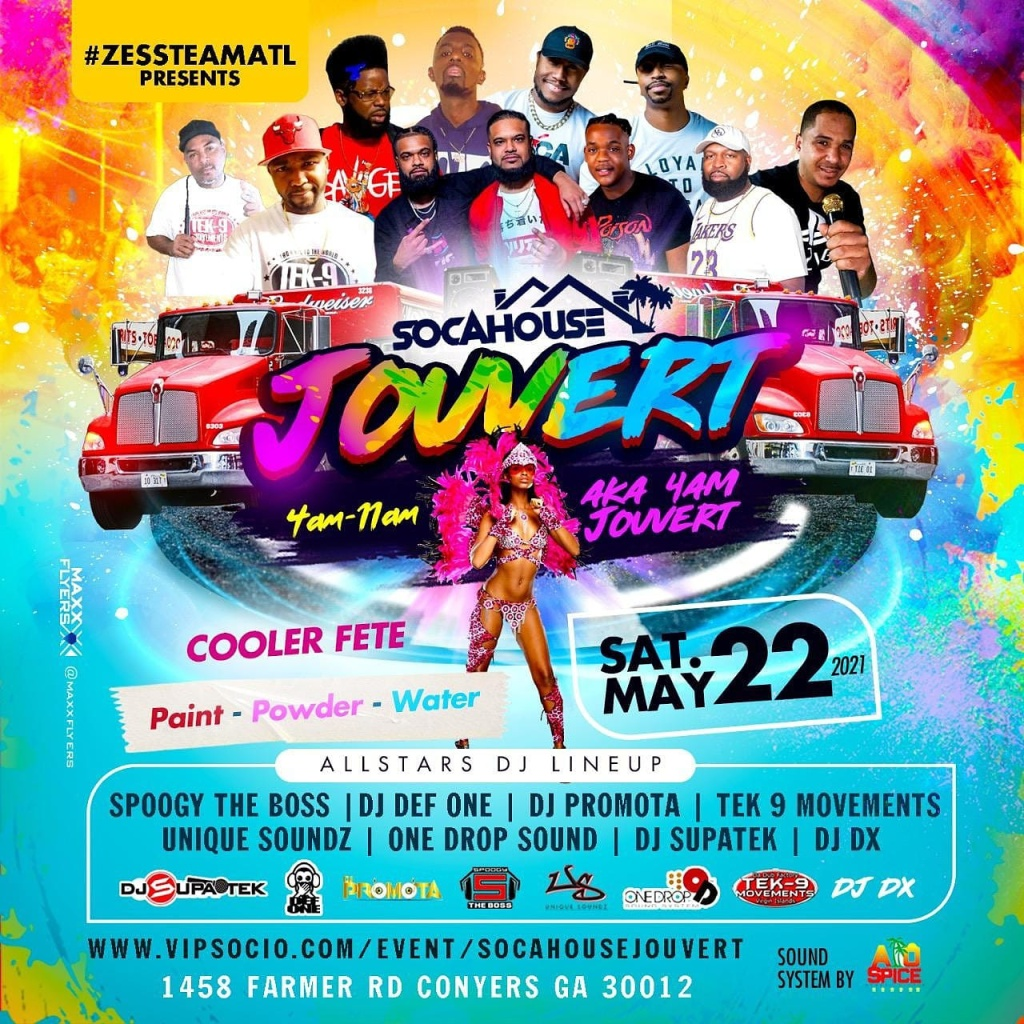 Soca House Jouvert flyer or graphic.