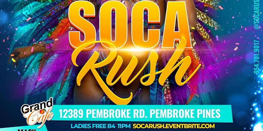 Soca Rush flyer or graphic.