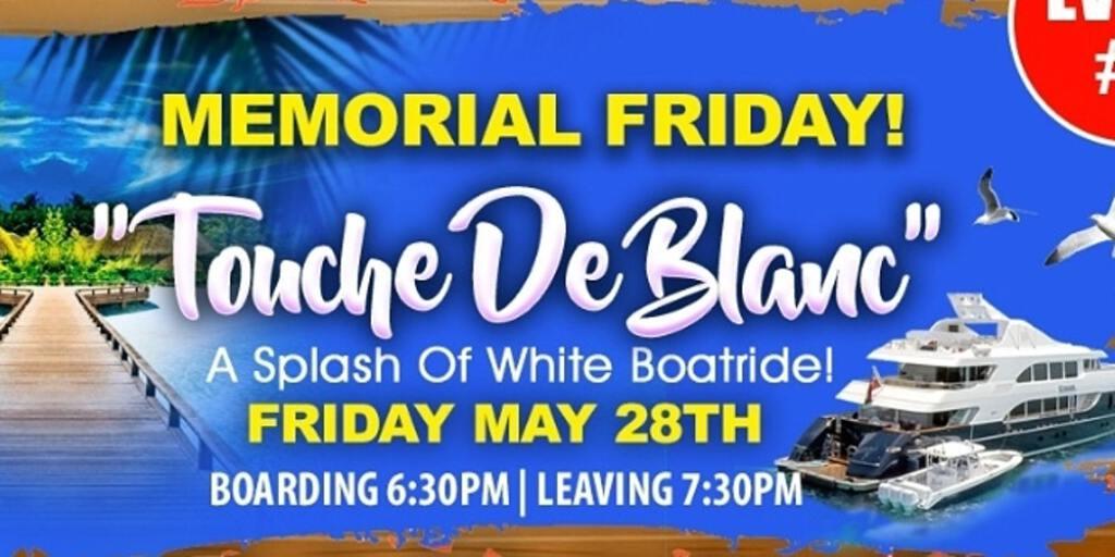 Touche De Blanc flyer or graphic.