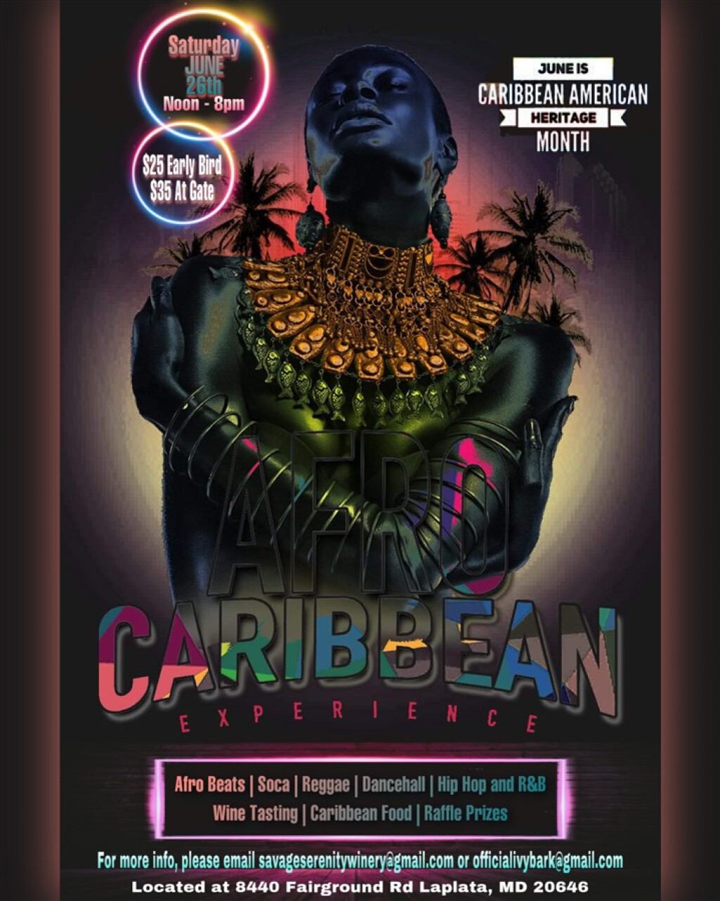 Afro Caribbean Experience flyer or graphic.