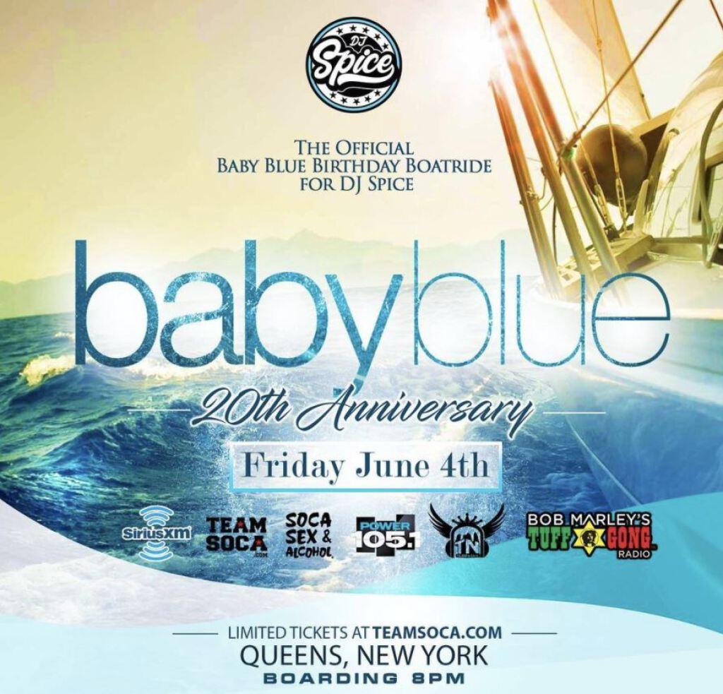 Baby Blue Birthday Boatride flyer or graphic.