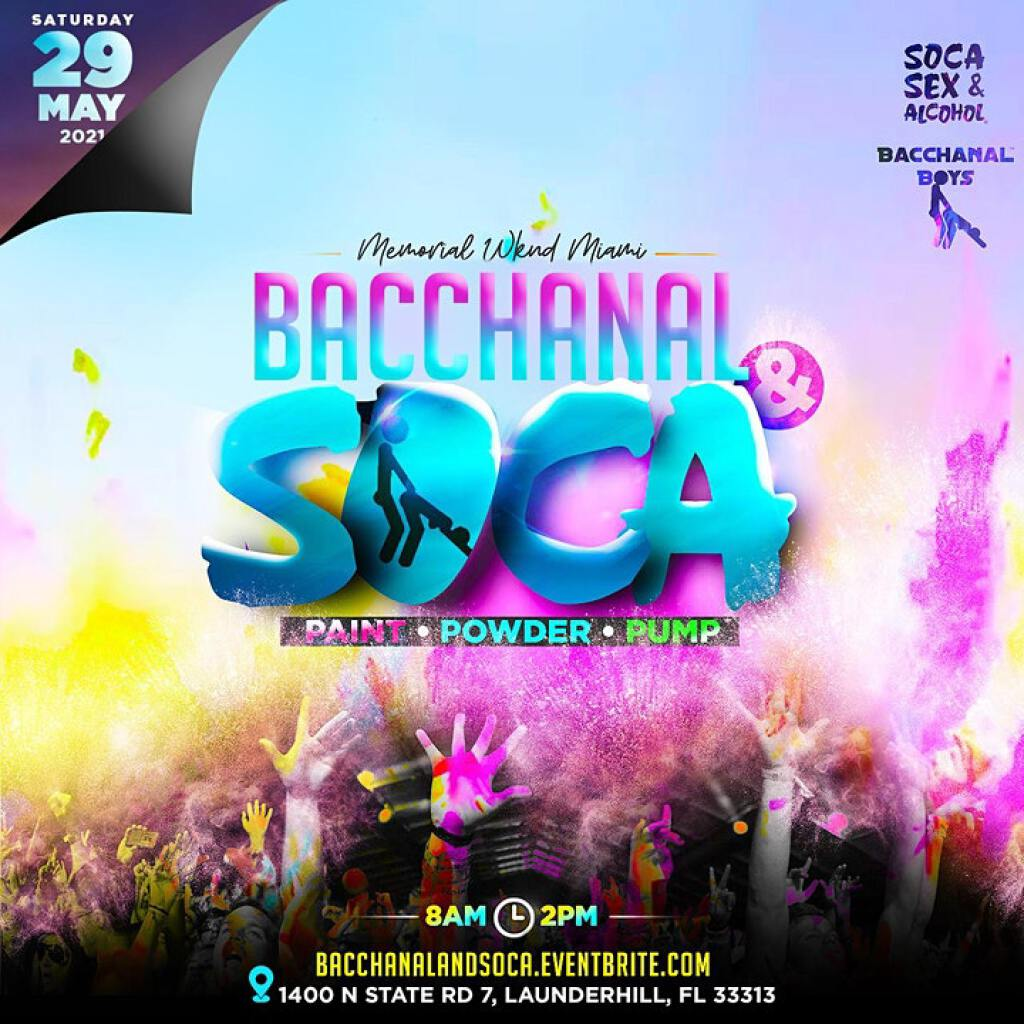 Bacchanal & Soca flyer or graphic.