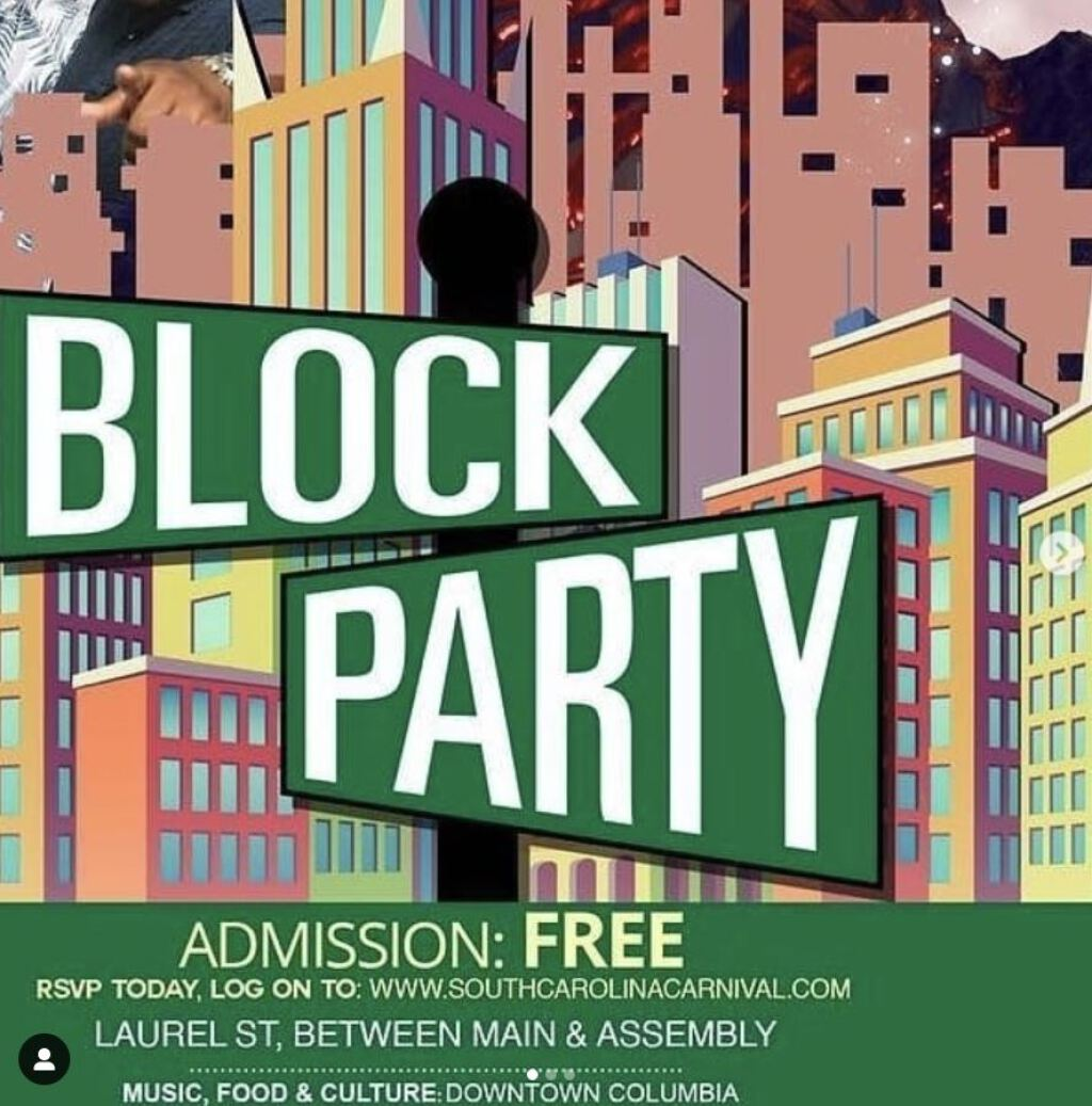Block Party  flyer or graphic.