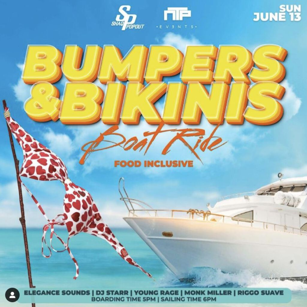 Bumpers & Bikinis flyer or graphic.
