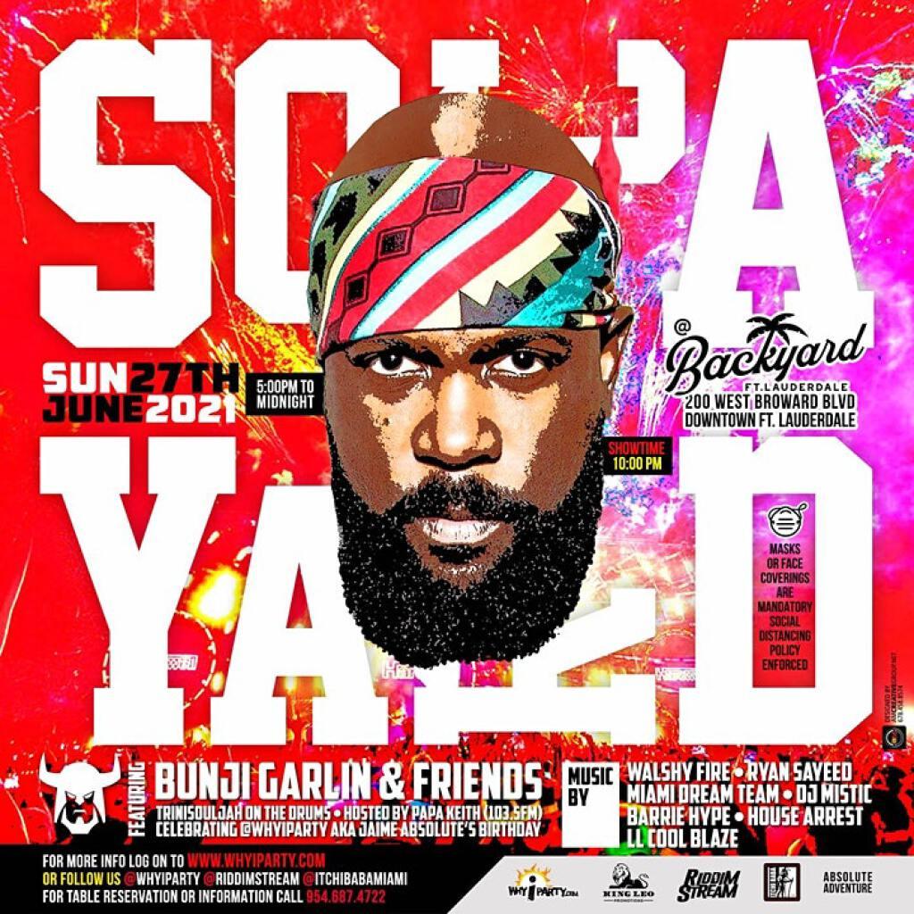 Soca Yard flyer or graphic.