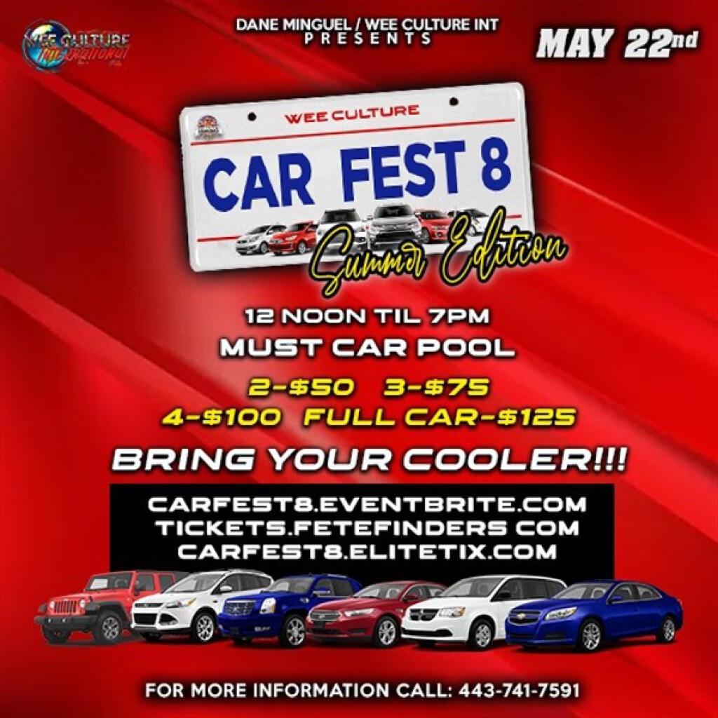 Car Fest 8 flyer or graphic.