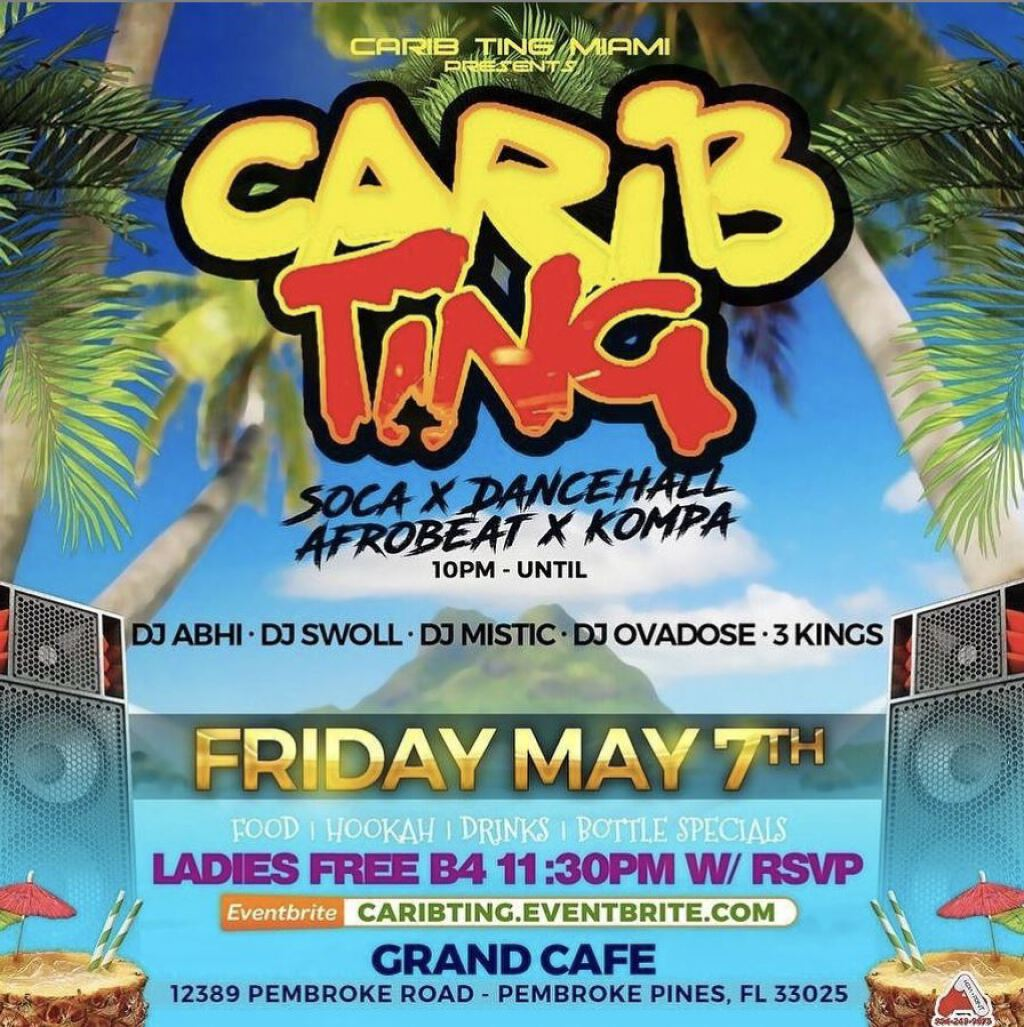 Carib Ting  flyer or graphic.