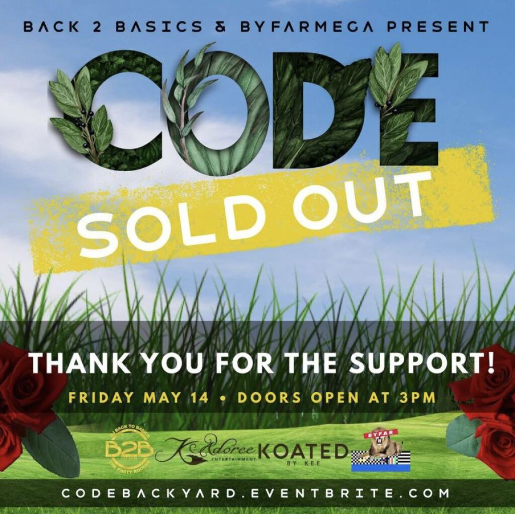 Code- The Backyard Jam flyer or graphic.