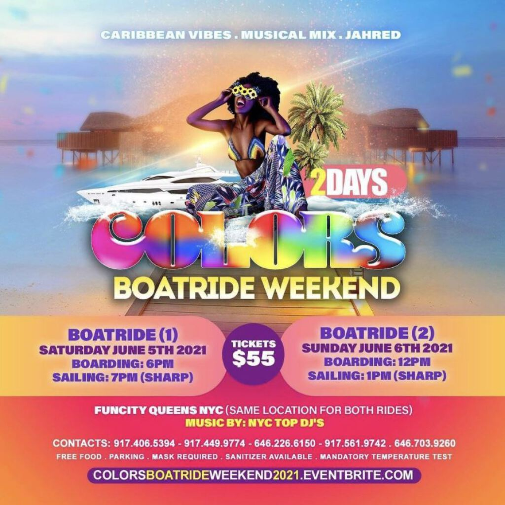 Colors Boat Ride Weekend Edition- Boat 1 flyer or graphic.
