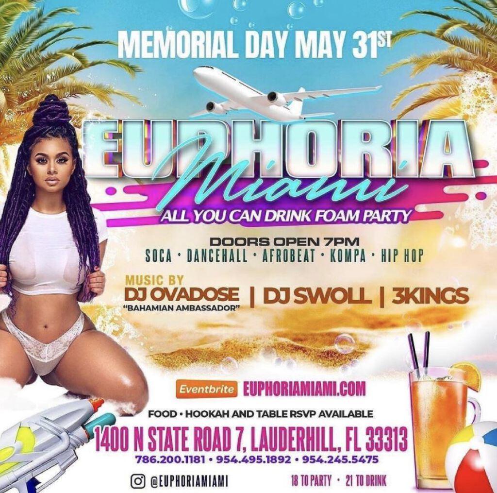 Euphoria Miami  flyer or graphic.