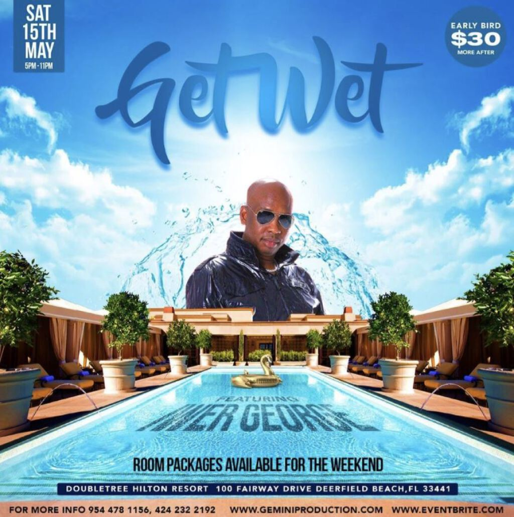 Get Wet flyer or graphic.