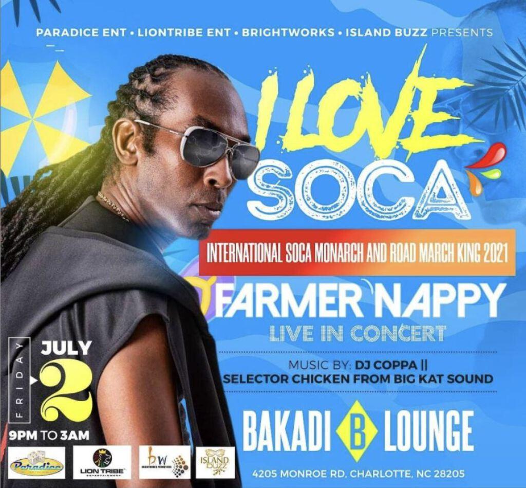 I Love Soca flyer or graphic.