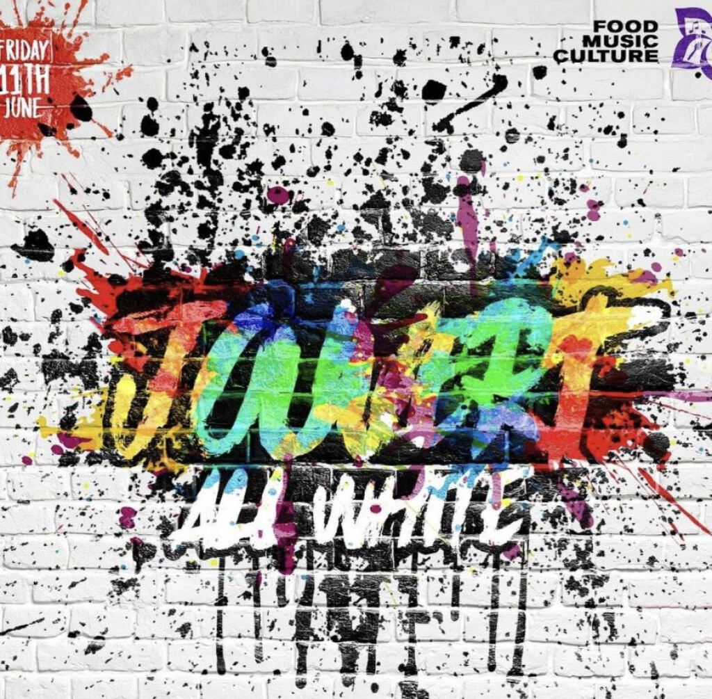 Jouvert All White flyer or graphic.