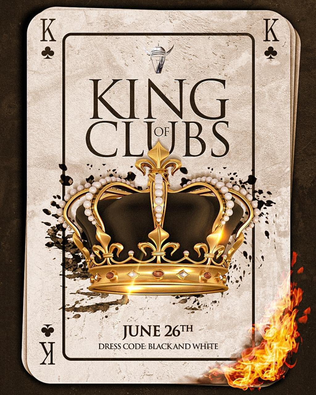 King Of Clubs flyer or graphic.