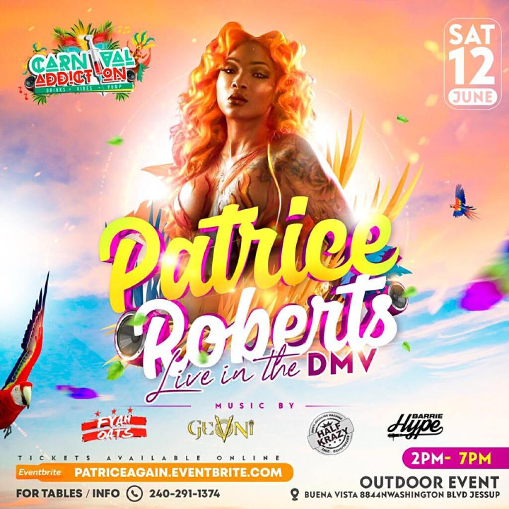Patrice Roberts Live flyer or graphic.