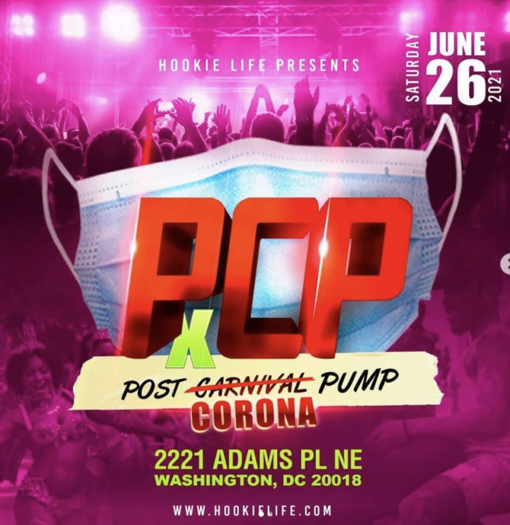 PCP: The Post-Corona  Pump flyer or graphic.