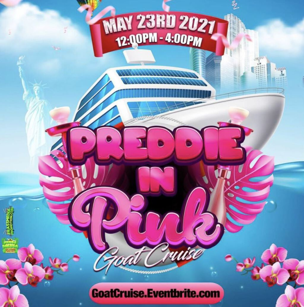 Preddie In Pink flyer or graphic.