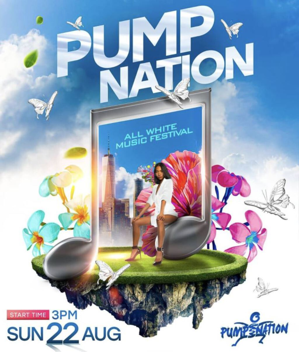 Pump Nation: The All White flyer or graphic.
