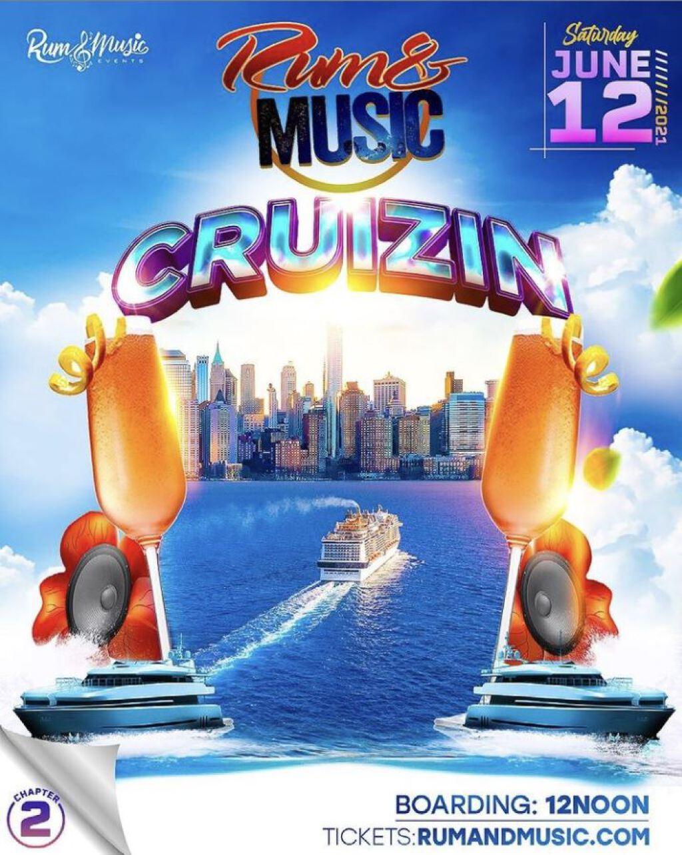 Rum & Music Cruizin flyer or graphic.