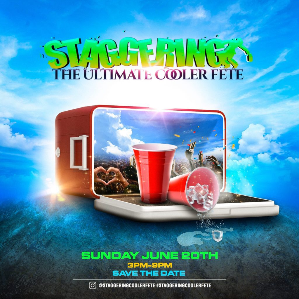 Staggering Cooler Fete flyer or graphic.