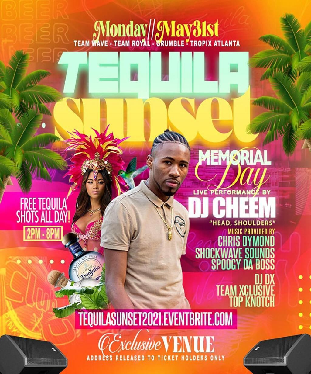 Tequila Sunset 2021 flyer or graphic.
