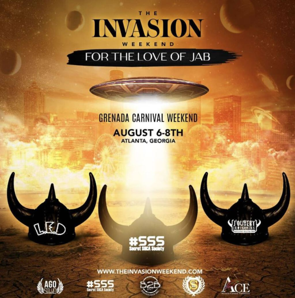The Invasion Weekend All Access Pass flyer or graphic.