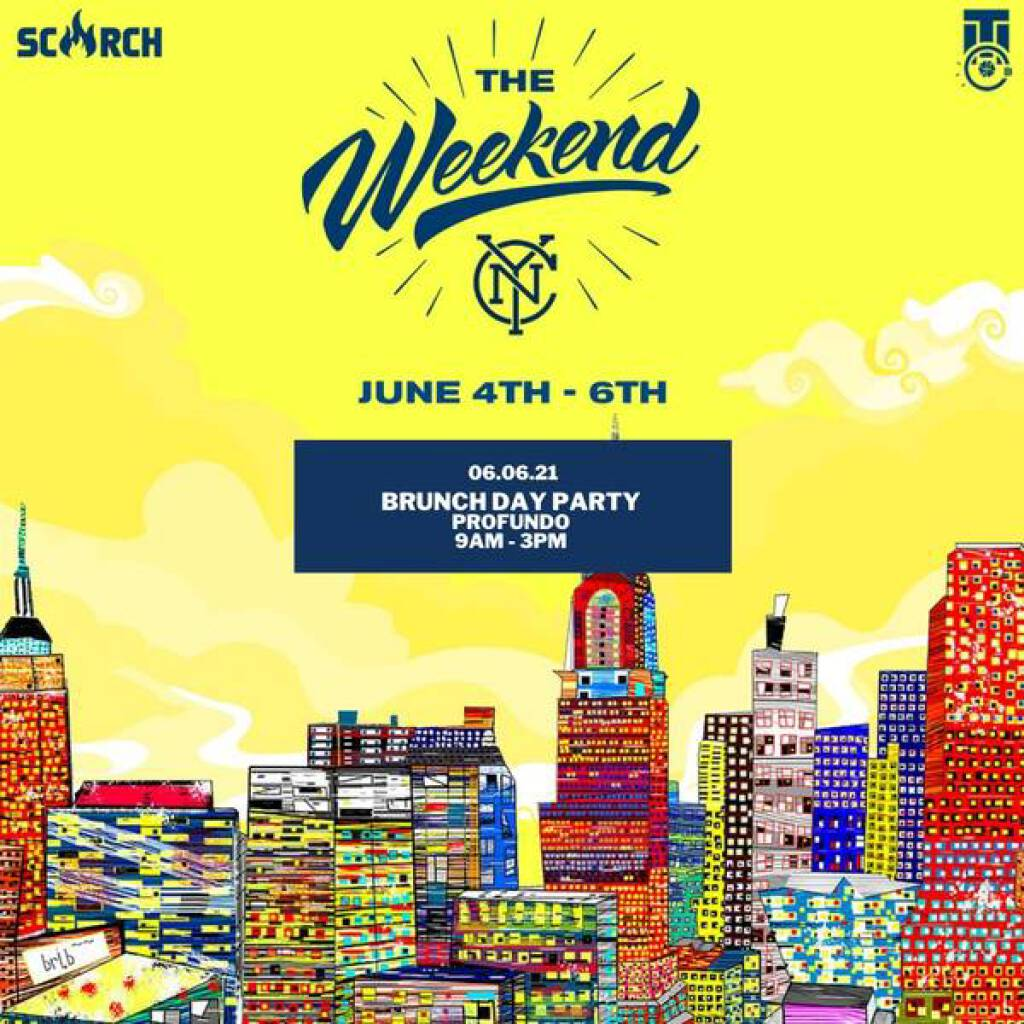 The Weekend- Brunch Pool Party flyer or graphic.