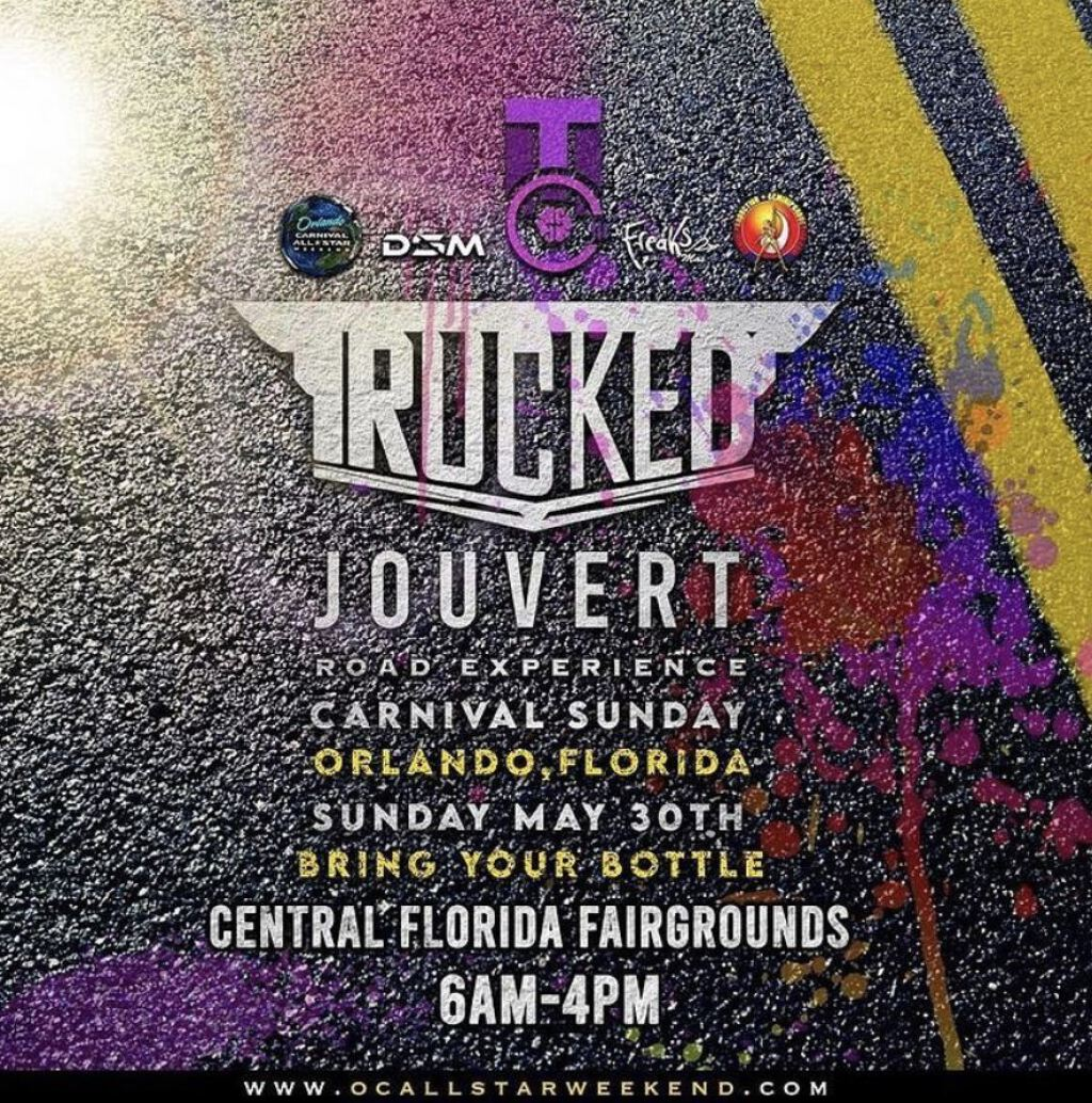 Trucked Jouvert Road Experience flyer or graphic.