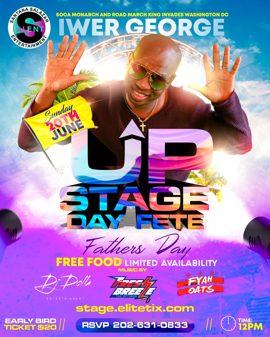 Up Stage Day Fete flyer or graphic.
