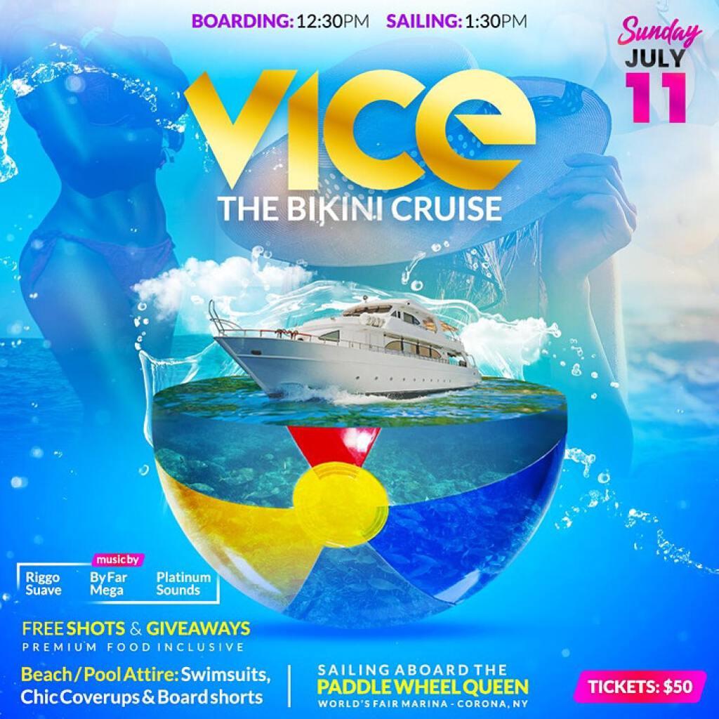 VICE: The Bikini Cruise flyer or graphic.