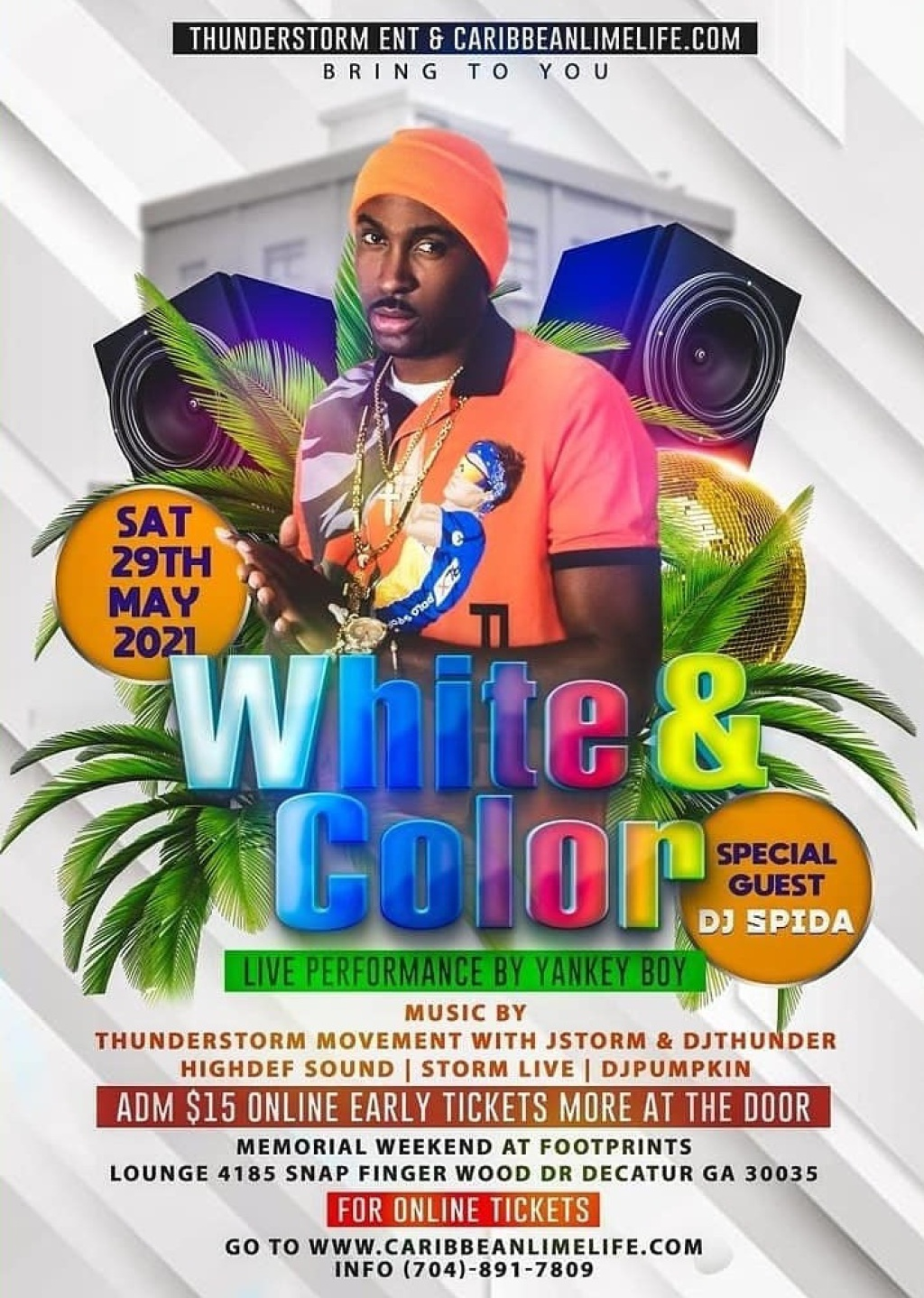 White & Color flyer or graphic.