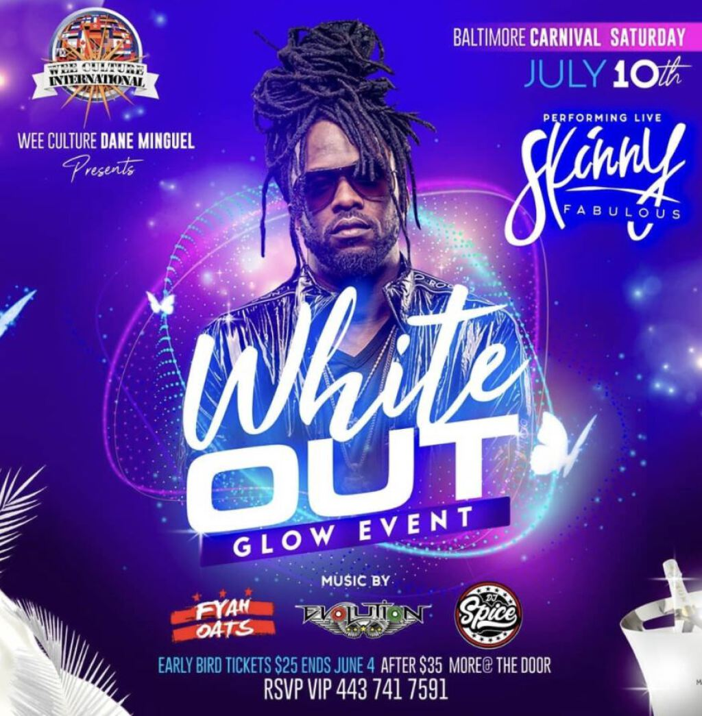 White Out Glow Edition flyer or graphic.