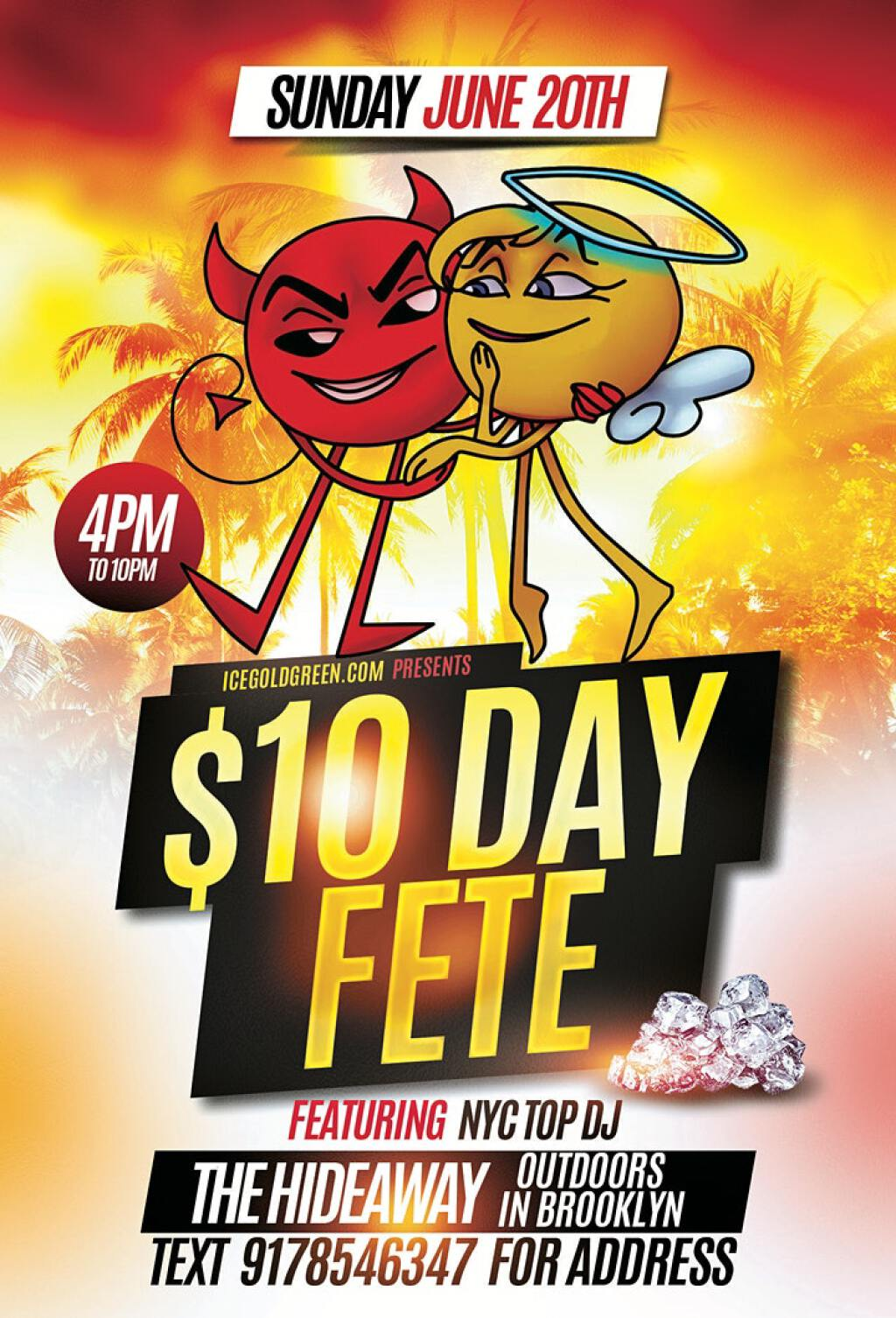 $10 Day Fete flyer or graphic.