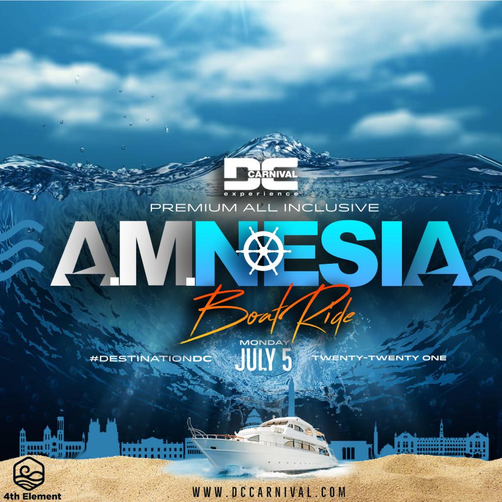 Amnesia Boat Ride flyer or graphic.