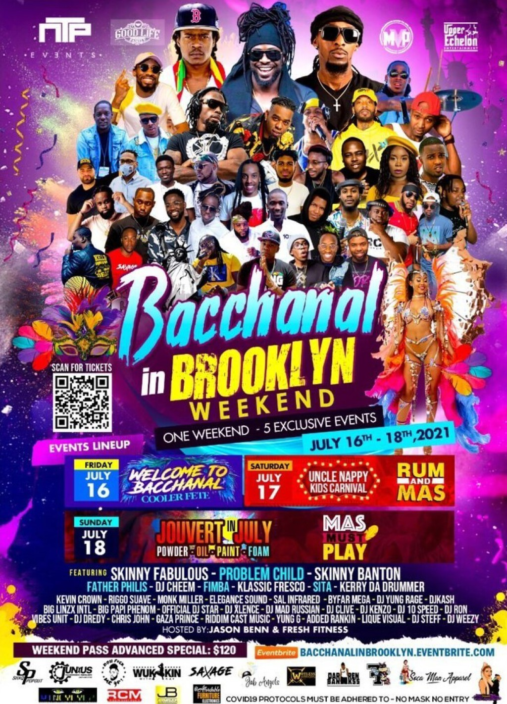 Bacchanal In Brooklyn All Access Bands flyer or graphic.