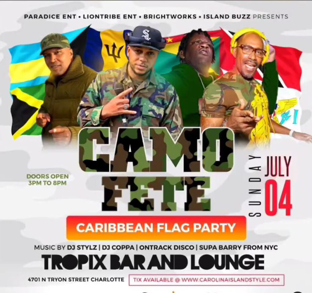 Camo Day Fete flyer or graphic.