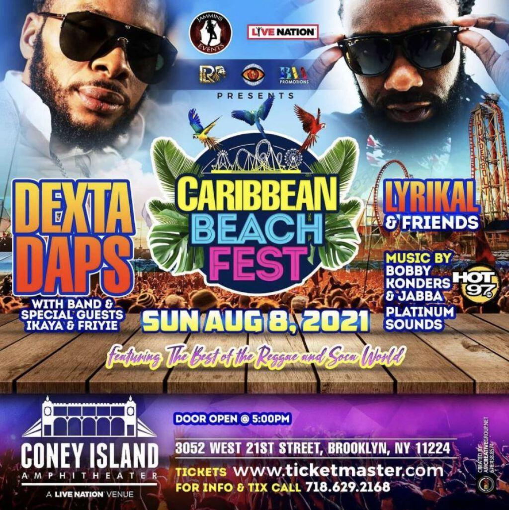Caribbean Beach Fest flyer or graphic.