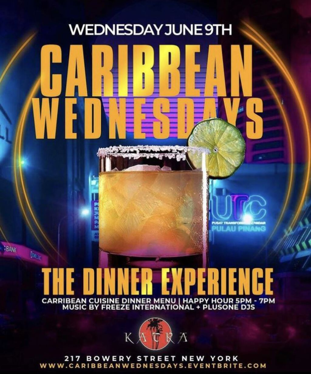 Caribbean Wednesdays flyer or graphic.