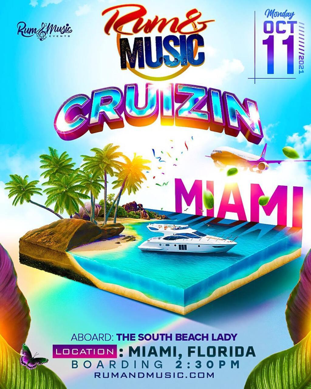 Cruizin Miami Beach flyer or graphic.