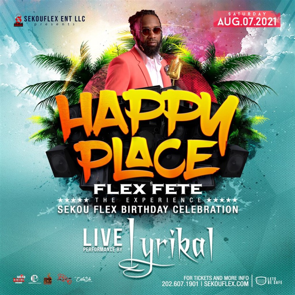 Happy Place: Flex flyer or graphic.