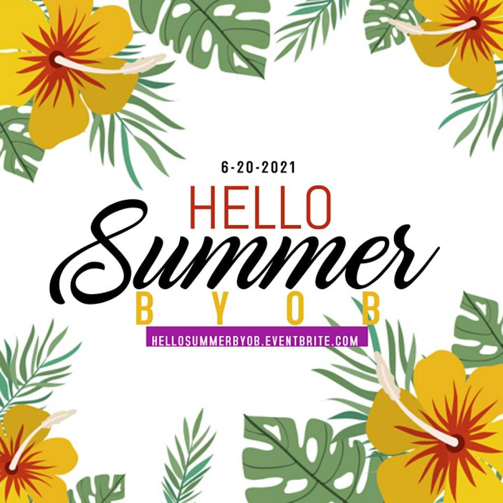 Hello Summer flyer or graphic.