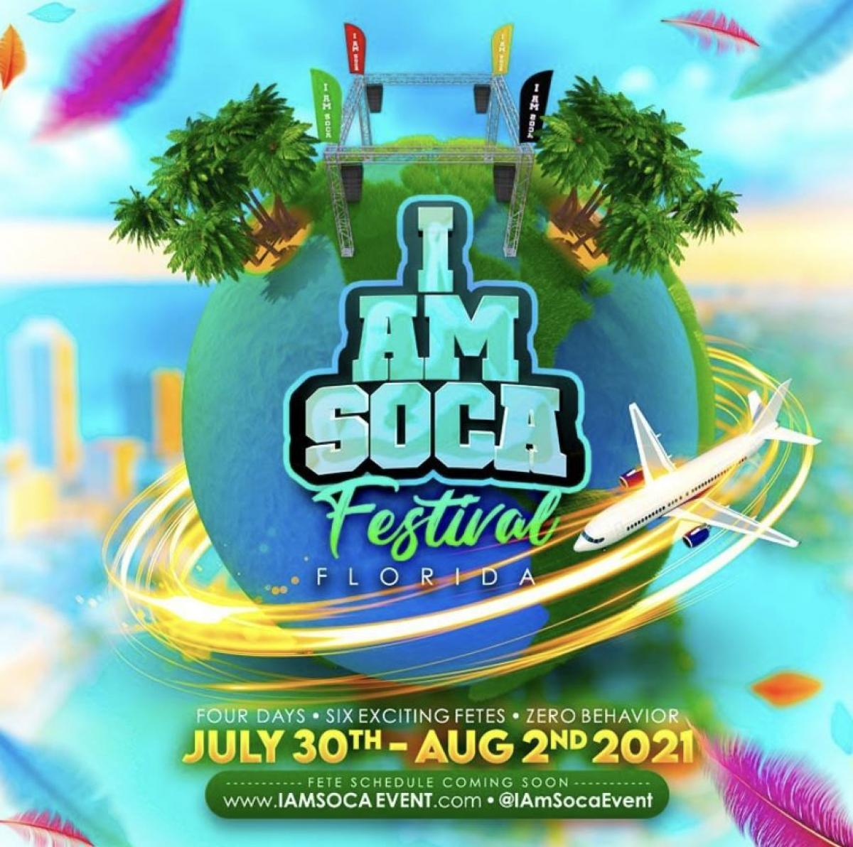 I Am Soca Festival All Access Pass flyer or graphic.